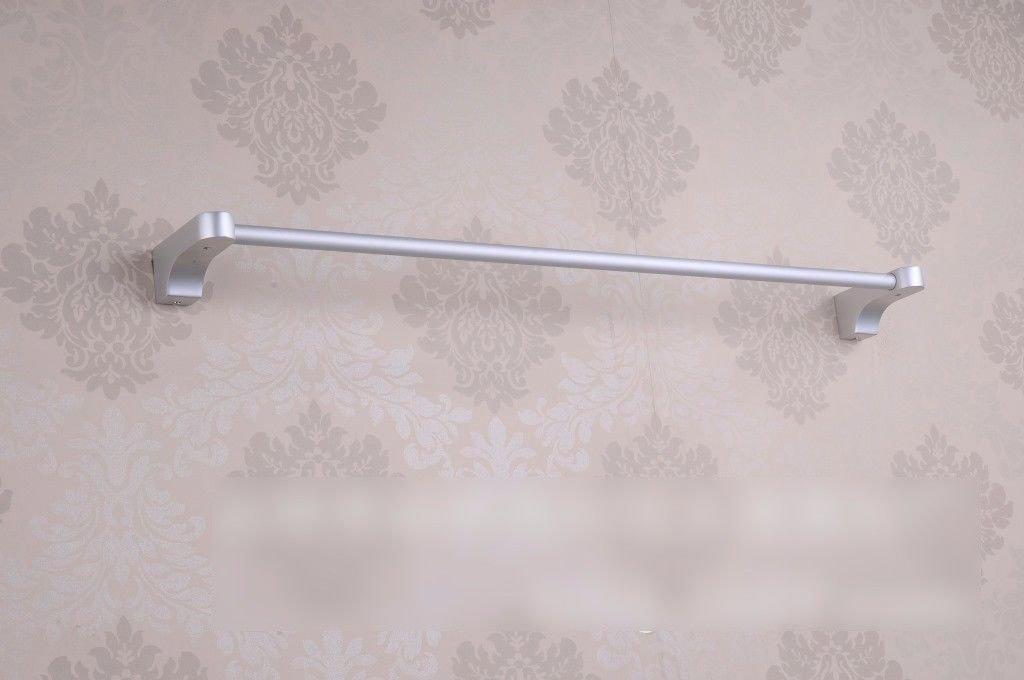 Yomiokla Bathroom Accessories - Kitchen, Toilet, Balcony and Bathroom Metal Towel Ring Built-in Shelf Space Aluminum Single Lever 60cm