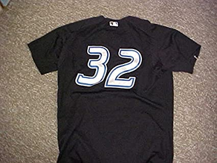 watch 6883b 8a3a8 Roy Halladay Toronto Blue Jays Black Alternate Game Worn ...