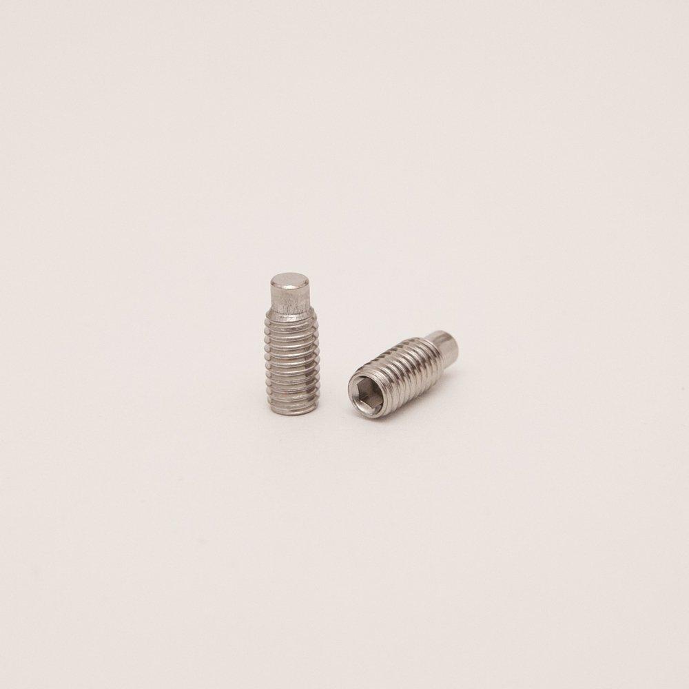2 St/ück | Madenschrauben DERING Gewindestifte M10 X 35 mit Innensechskant u Zapfen DIN 915 Edelstahl A2