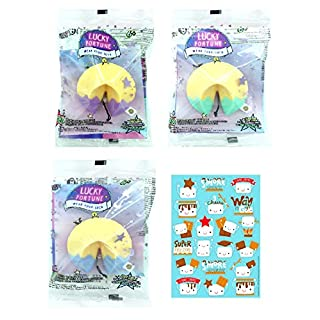 Lucky Fortune WowWee Blind Bracelets (3 Pack) Bundle (Colors Vary) + Scented Smores Marshmallow Stickers!