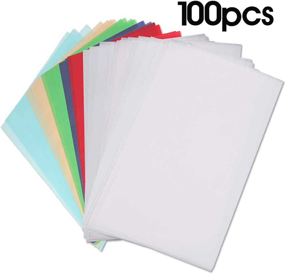 BAISDY 100PCS Vellum Paper 8.5 x 11 Translucent White Vellum Tracing Paper for Printing Sketching DIY Card Marking