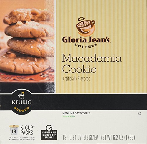 (Gloria Jean's Macadamia Cookie Flavored Coffee - 18 K-cups for Keurig Brewer)