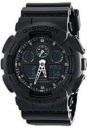 Casio G-Shock Black Dial Resin Multifunction Quartz Men's Watch GA100MB-1A