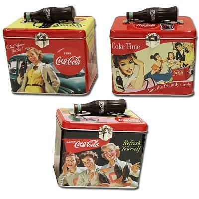Coca-Cola Coke Train Case w/ Bottle Handle - Assorted Designs by ()