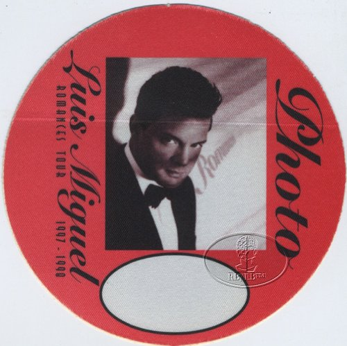 Luis Miguel 1997 Romances Tour Backstage Pass Photo Red