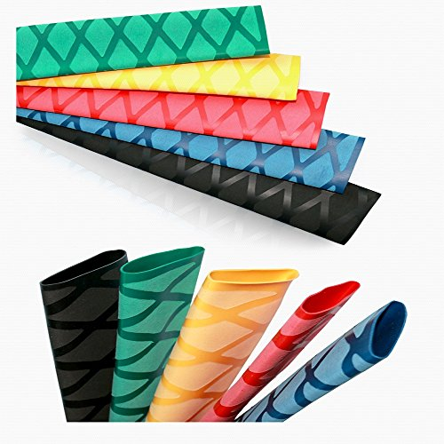 Moke Non-slip X Heat shrink grip DIY Tennis racket Badminton racket,tennis grip,tennis overgrip, Length 0.5M(Black φ40mm)