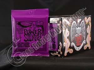 ernie ball power slinky custom gauge nickel wound guitar string set 011 048. Black Bedroom Furniture Sets. Home Design Ideas