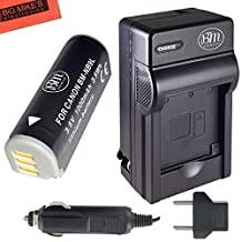 Big Mike's NB-9L Battery And Charger Kit For Canon PowerShot N Elph 510 Elph 520 Elph 530 HS SD4500 IS Digital Camera + More!!