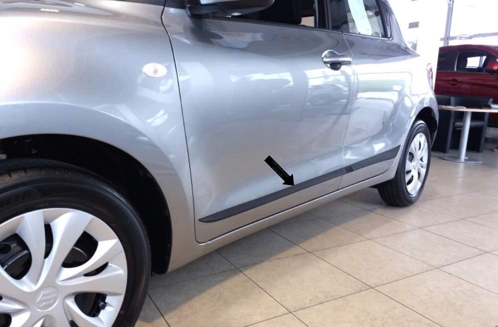 370005302 5 Porte Anno di Costruzione 04.2017- F53 Spangenberg Colore: Nero Tipo AZ Listelli di Protezione Laterali per Suzuki Swift V Hatchback