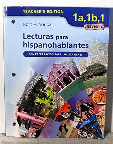 ?Avancemos!: Lecturas para hispanohablantes Workbook Teacher's Edition Levels 1A/1B/1 (Spanish Edition)
