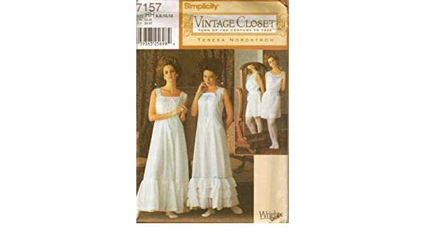Amazon Simplicity 7157 Misses Historical Undergarments Pattern Size 6 12 Slip Night Gown Camisole With Bloomers