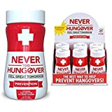 Hangover Prevention Drink - Never Too Hungover Prevention w/Electrolytes for Rehydration, B Vitamins for Energy & Nutrient Replenishment to Help Avoid Hangovers - 6 Pack - 3.4 Oz Bottles