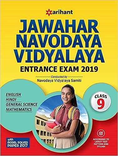 Buy Jawahar Navodaya Vidyalaya Class 9th 2019 Book Online at