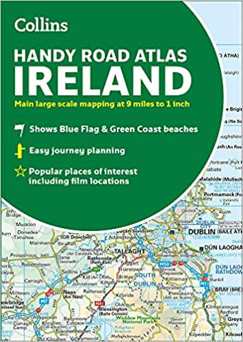Full Map Of Ireland.Collins Handy Road Atlas Ireland Collins Maps 9780008320393