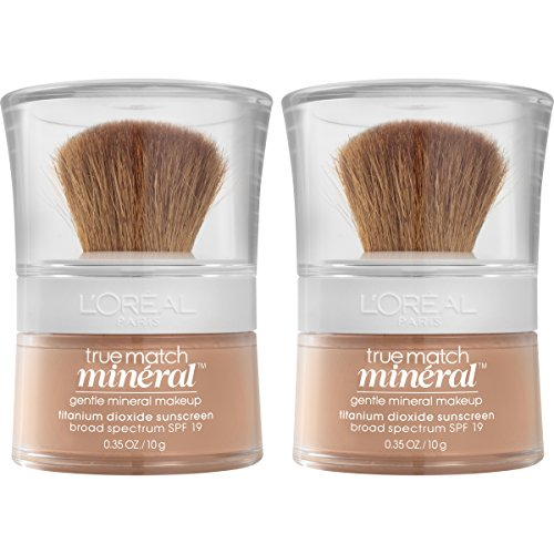 L'Oréal Paris Makeup True Match Loose Powder Mineral Foundation, Buff Beige, 2 Pack