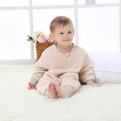 Nine States Baby Soft Cotton Sleeping Sack Long Sleeve Wearbale Blanket Medium Beige by Nine States