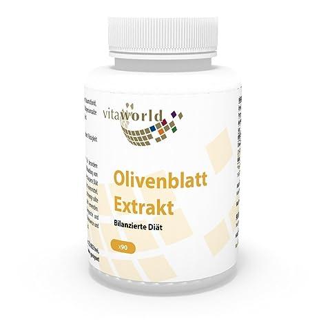 Extracto de Hojas de Olivo – Dieta balanceada 90 Cápsulas Vita World Alemania