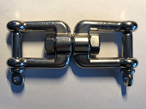 Stainless Steel 316 Anchor Swivel Jaw and Jaw 13mm or 1/2