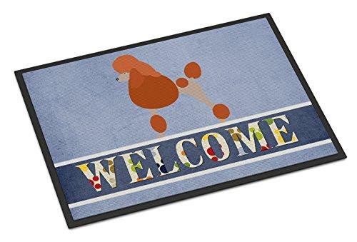 Caroline's Treasures Royal Poodle Welcome Doormat, 18