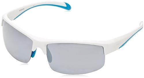 Polaroid Sport PLD 7019/S EX, Gafas de Sol Unisex-Adulto, White Bluee, 70