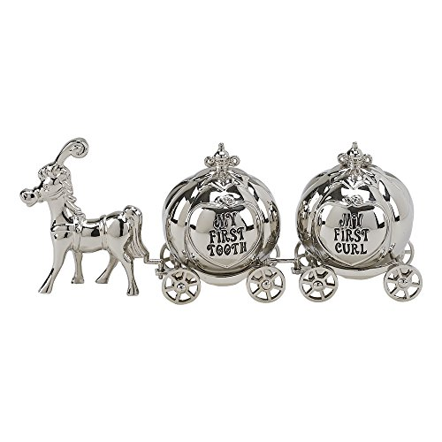 Creative Gifts International Horse & 2 Pumpkin Coaches for 1st Tooth & 1st curl, Silver ()