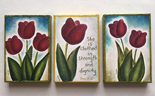 Wooden trio wall art plaque keepsakes