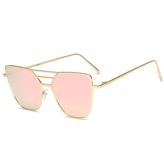 Z&YQ Occhiali da sole metallo grande telaio occhiali da sole europei, gold blue box