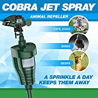 Hoont8482; Cobra Powerful Outdoor Water Jet Blaster Animal Pest Repeller – Motion Activated - Blasts Cats, Dogs, Squirrels, Birds, Deer, Etc. Out of Your Property