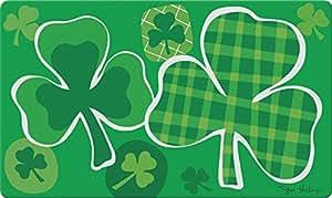 """Toland Home Garden 800283""""Lucky Clovers vacaciones/ST Patrick de la"""" decorativa estándar alfombrilla, 18""""x 30"""""""