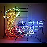 Urby® Cobra Jet Snake Real Glass Neon Light Sign Home Beer Bar Pub Windows Garage Wall Sign 24''x22'' T1