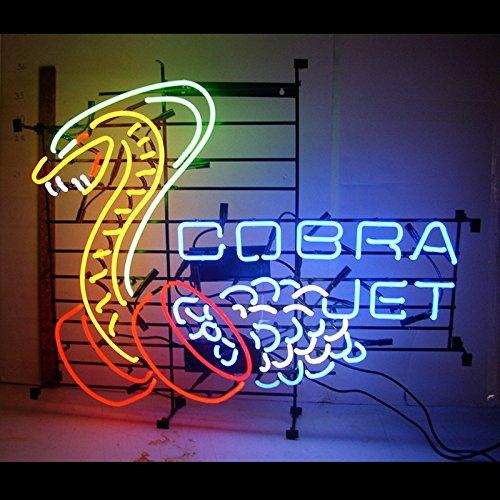 Urby® Cobra Jet Snake Real Glass Neon Light Sign Home Beer Bar Pub Windows Garage Wall Sign 24''x22'' T1