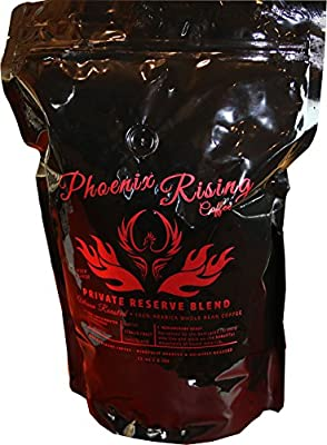 Phoenix Rising Coffee, Private Reserve Blend 2lbs whole bean, resealable bag. by Phoenix Treasures, LLC