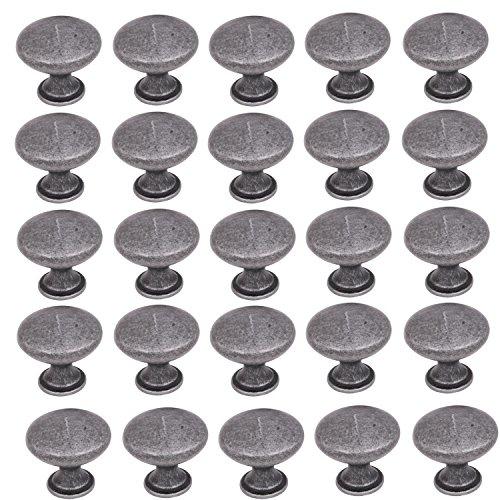 25 Pack ECLV Swedish Iron Cabinet Closet Hardware Round Mushroom Knobs ()