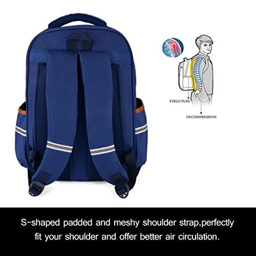 Backpack Kid,Bageek School Bags Backpacks for School Bookbag Rucksack Backpack Waterproof Backpack(blue) by Bageek (Image #3)