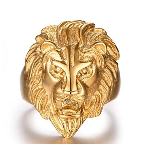 lion head ring - 2
