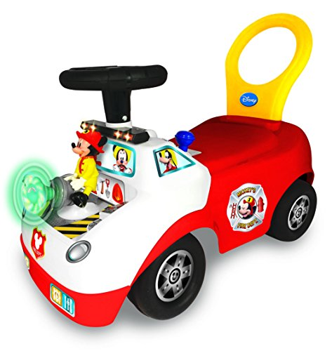 Kiddieland Toys Limited Disney Mickey Activity Fire Truck Ride-On