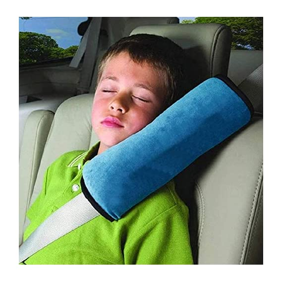DearJoy Kids Seatbelt Car Pillow (Blue)