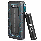 Raydem Power Bank Combo, Outdoor Rugged Power Bank 10000mAh 2-Port Portable Charger with Flashlight Cigarette Lighter Safety Hammer and Ultra-compact 2500mAh Portable Charger with Flashlight