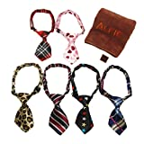 Alfie Pet by Petoga Couture - Set of 6 Qun Formal Dog Tie and Adjustable Collar with Microfiber Fast-Dry Washcloth - Neck Size: 11'' - 17'' for Dogs and Cats