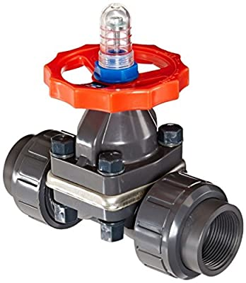 Hayward DAB1012UEE PVC Man DAB Series Diaphragm Valve with EPDM Seals, Socket/Threaded Connections from Hayward - Distribution