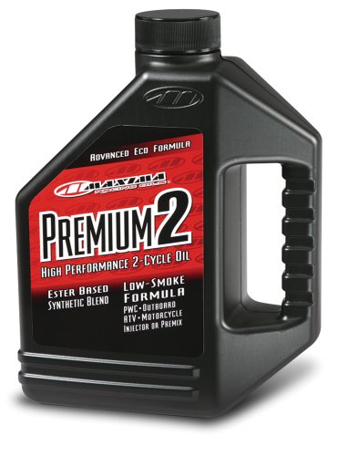 Maxima (219128) Premium 2 Smokeless 2-Stroke Premix/Injector Oil - 1 Gallon