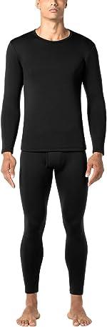 LAPASA Men's Heavyweight Thermal Underwear Long John Set Fleece Lined Base