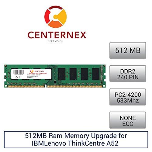 512MB RAM Memory for IBMLenovo ThinkCentre A52 (8287E3U) (73P3213 ) (DDR24200 NonECC) Desktop Memory Upgrade by US - A52 Thinkcentre Ibm Desktop