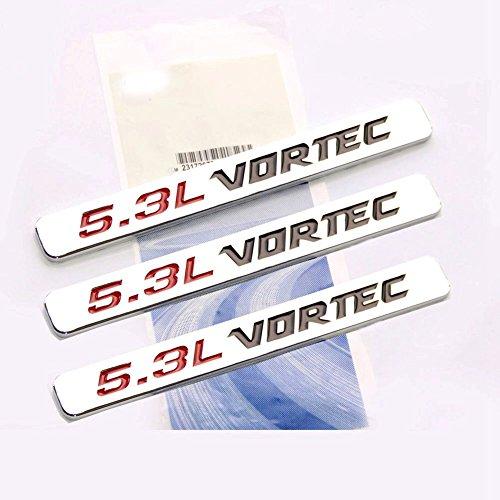 Yoaoo 2x OEM White Black Vortec Emblems Badges for 2500hd GMC Sierra Silverado Gm Truck Liter Badges