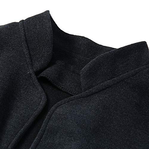Liso Para Negro Cuello Chaqueta Manga Larga Alto Mujer Casual Npradla qATzEz
