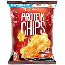Quest Nutrition Protein Chips, BBQ, 22g Protein, 2g Net Carbs, 130 Cals, Low Carb, Gluten Free, Soy Free, Potato Free, High Protien, Baked, 1-1/8oz Bag, 8 Count