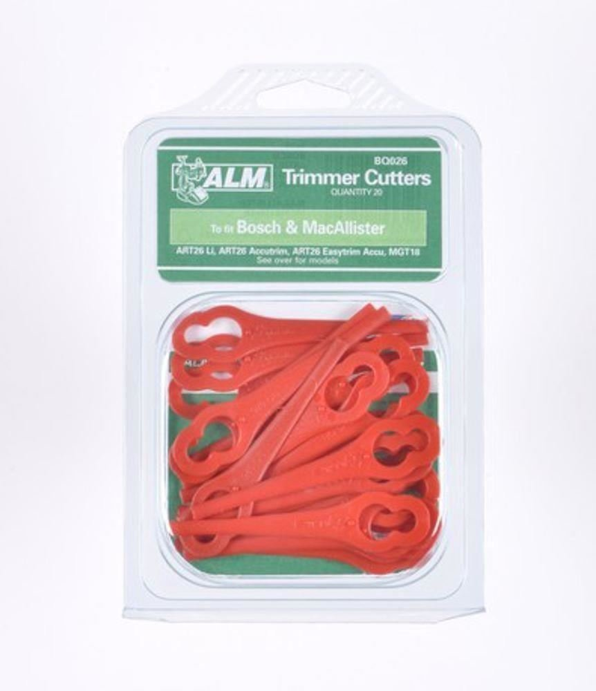 ALM BQ026 - Láminas De Plástico Para Ciertos Cortacéspedes - Rojo