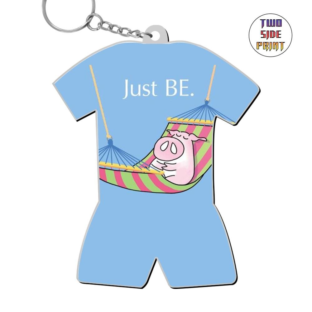 Ringkyo Printed Pig'S Fun World Cup Pattern Key Chain