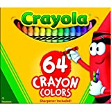 Crayola Crayons Box,64 Count (Case of 48)