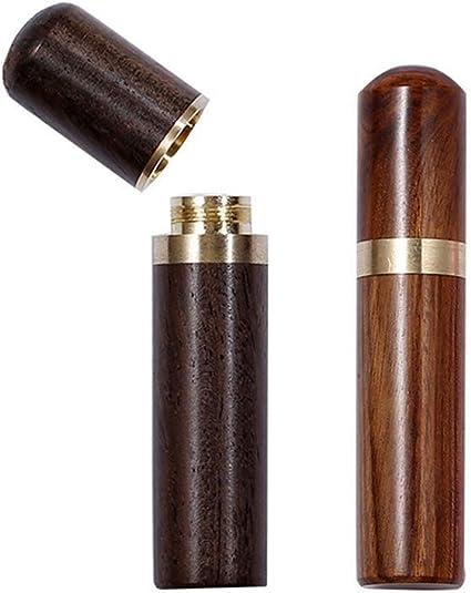 Wooden Wood Sewing Organizer Needle Box Toothpick Storage Holder Safety Case